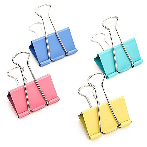 Colorful Metal Binder Clips, Assorted Colors And Size 1