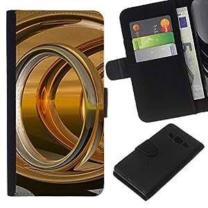 Stuss Case / Funda Carcasa PU de Cuero - Anillo de Oro Resumen - Samsung Galaxy A3