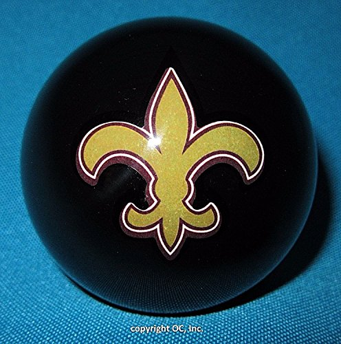 Officially Licensed NFL New Orleans Saints BLACK Billiard Pool Cue (New Orleans Saints Cue Stick)