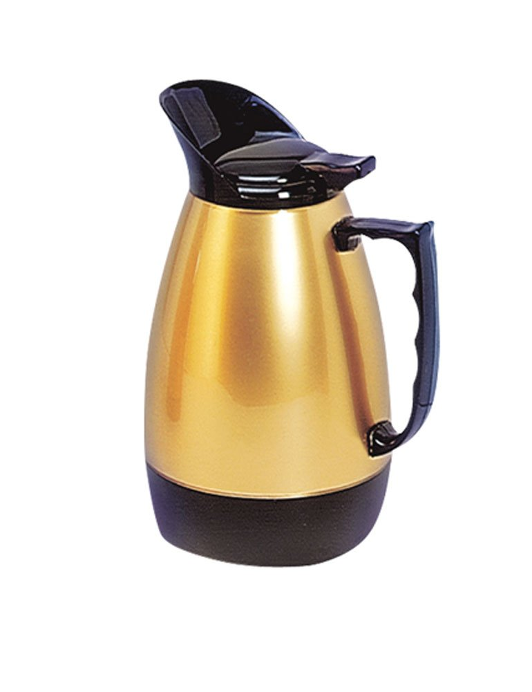 iecool Stainless Steel Metal Three Wall Vacuum Insulation Coffee Carafe Glod 68oz