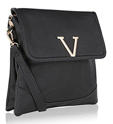 MKF Collection Morgan Nylon Crossbody Bag (Morgan Black Bag)