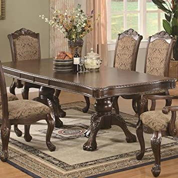 Pleasant Amazon Com Traditional Dining Table With Extension Leaf In Lamtechconsult Wood Chair Design Ideas Lamtechconsultcom