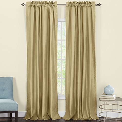 Silk Panel - Heritage Landing Faux Silk Lined Window Panel Pair, 108