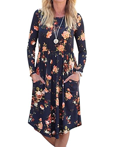 Girls Long Sleeve Floral Dress - 8