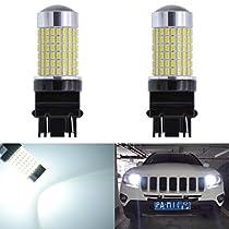 KaTur Extremely Bright 1500 Lumens 3014 144SMD 9005 HB3 H10 9145 9140 Lens Fog Lights DRL Turn Signals Light Bulbs Day Running Light Lamp 12V-24V White 6000K (2-Pack)