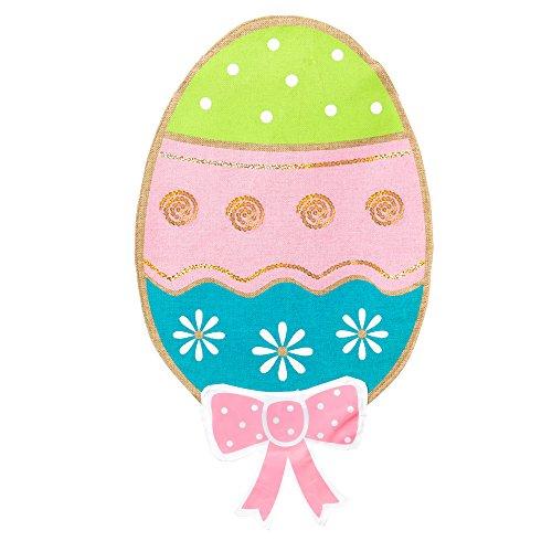 Burlap Easter Egg Shaped Garden Flag, New