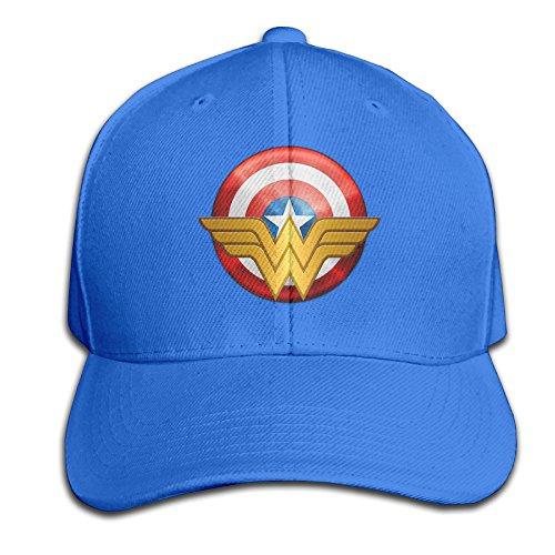 AGMPO Unisex Wonder Women Logo Peaked Baseball Cap - Americas Las Hut Pizza