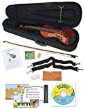 eMedia My Violin Starter Pack for Kids - 1/4 Size Violin (5 Sizes Available) - Includes Violin Lesson Software, Case, Bow, Chalk, Rosin, Straps, Polishing Cloth, and Strings