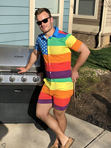 9d3961dd566 Zesties Pride Romper - Gay Pride Rainbow Male Romper
