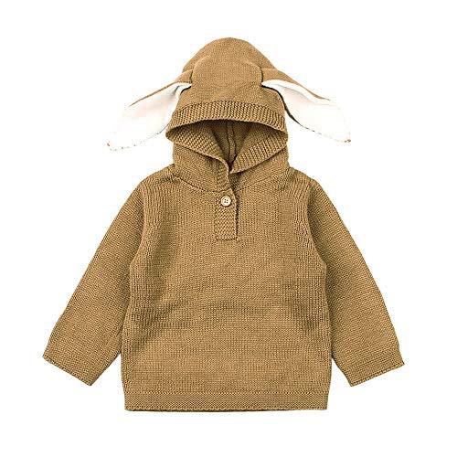 Newborn Hoodie Sweatshirt,Jchen(TM) Toddler Infant Baby Boys Girls Cartoon Ear Knitted Hooded Tops Sweater for 0-24 Months (Age: 12-18 Months, Coffee) by Jchen Sweatshirt