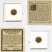 306 IT - 410 AD First Christian Empire ROMAN BRONZE COIN Genuine Ancient Antique from 306-410 AD - Genuine Rom