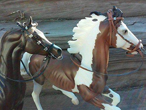 Two Breyer horse custom bridle parade style