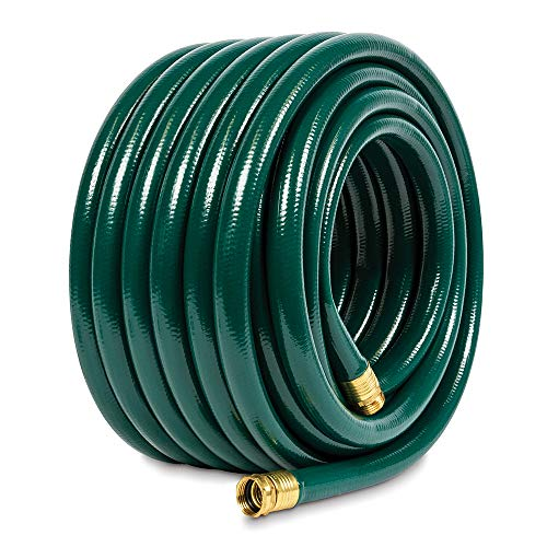 Gilmour 843751-1001 Flexogen Heavy Duty Watering Garden Hose 3/4in x 75 Feet, Green