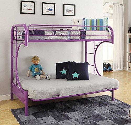 Acme Furniture 02091W-PU Eclipse Futon Bunk Bed, Twin/Full, ()