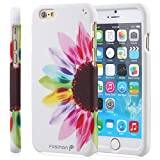Fosmon® Apple iPhone 6 Case (MATT-DESIGN) Hard Rubberized Design Case Cover Shell (Lightweight & Ultra Slim) for Apple iPhone 6 4.7 Inch - Fosmon Retail Packaging (Colorful Sunflower)
