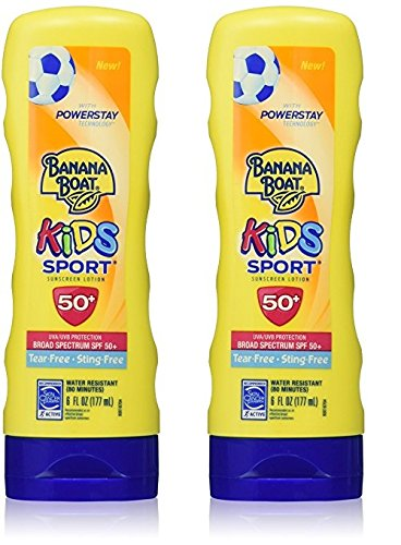 2X Banana Boat Kids Sport Tear-Free, Sting-Free Sunscreen Lotion, SPF 50+ 7.5 Oz (Kids Sunscreen Banana Boat)