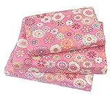 100 cotton twin sheets - J-pinno Cute Flower Twin Sheet Set for Kids Girl Children,100% Cotton, Flat Sheet + Fitted Sheet + Pillowcase Bedding Set