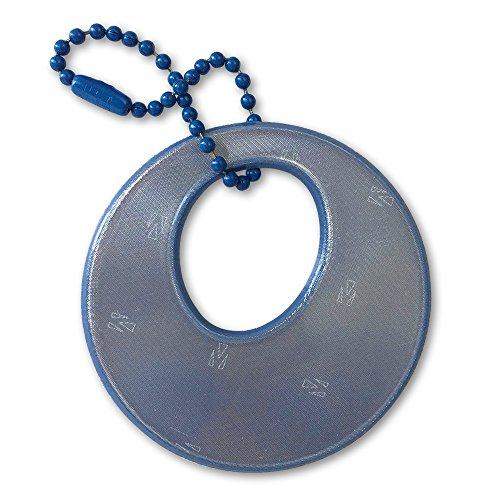 funflector Safety Reflector - Circles - Denim -