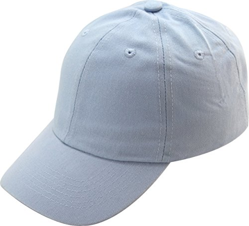 (Washed Cotton Baseball Cap (One Size, Light Blue))