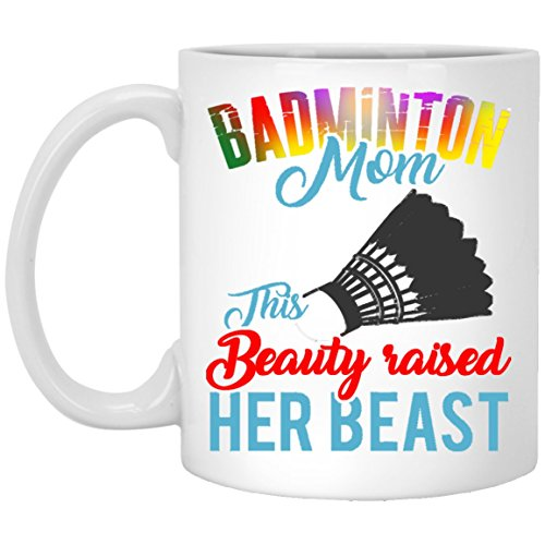 Ceramic Coffee Mugs 15oz This Beauty Raised Her Beast Persionalized Gift For Parents, Son Daugter, Husband Wife Or Friends On Birthday Christmas Father - Mother'S Day - White Tea Cup -