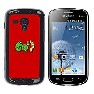 // PHONE CASE GIFT // Duro Estuche protector PC Cáscara Plástico Carcasa Funda Hard Protective Case for Samsung Galaxy S Duos S7562 / Watermelon & Banana Doctor - Funny /