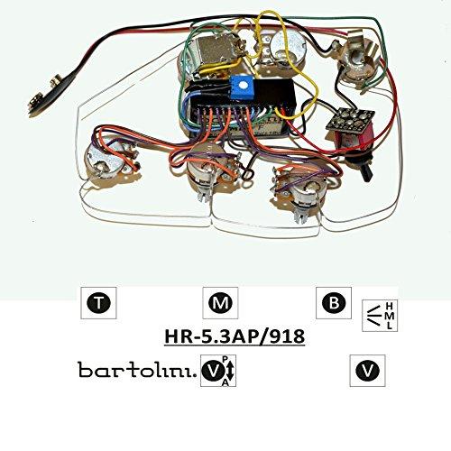 amazon com bartolini hr5 3ap 918 prewired active passive preamp rh amazon com