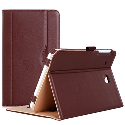 Procase Galaxy Tab E 8.0 Case - Stand Folio Case Cover for Galaxy Tab E 8.0 4G LTE Tablet (Sprint,US Cellular, Verizon,T-Mobile, ATT) SM-T377 (Brown)