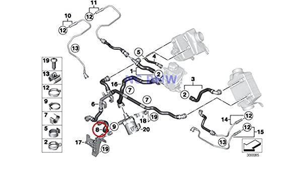 Amazon Com Bmw Genuine Turbo Cooling System Water Hoses Coolant