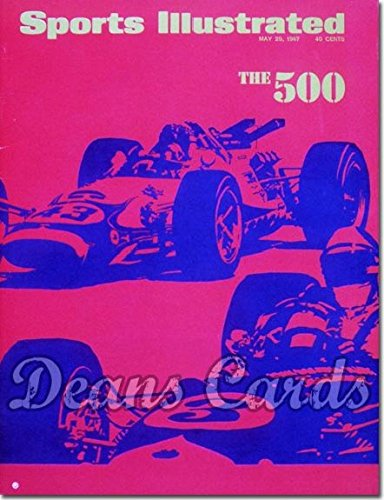 Front 6 Magazine (Sports Illustrated - With Label May 29 1967 - Indy 500 (Magazine / Publication) (Has Address Label on Front) Dean's Cards 6 - EX/MT)