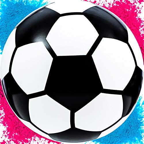 UP Shop Gender Reveal Soccer Ball Kit | Empty Ball + Pink & Blue Powder | Non -