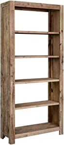 vidaXL Solid Acacia Wood 5-Tier Bookcase Book Shelf Storage Rack Organizer Displaying Stand Shelving Living Room Home Office Furniture