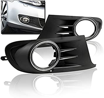 ABS Plastic Front Grill Bumper Fog Lights Frame Trim Cover For VW Jetta MK5 06+