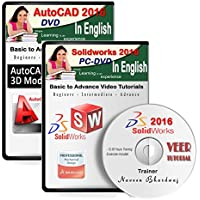 Veer Tutorial AutoCAD 2016 + Solidworks 2016 Video Training (2 DVDs, 20 Hrs Training) in English