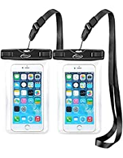 AiRunTech Waterproof Case, 2Pack IPX8 Waterproof Phone Pouch, Dustproof Dry Bag for iPhone XS/XS Max/XR/X/8/8 Plus/7/7 Plus/6/6s, Samsung Galaxy S9//S8/S7 Google Pixel and All Devices Up to 7.0 Inches