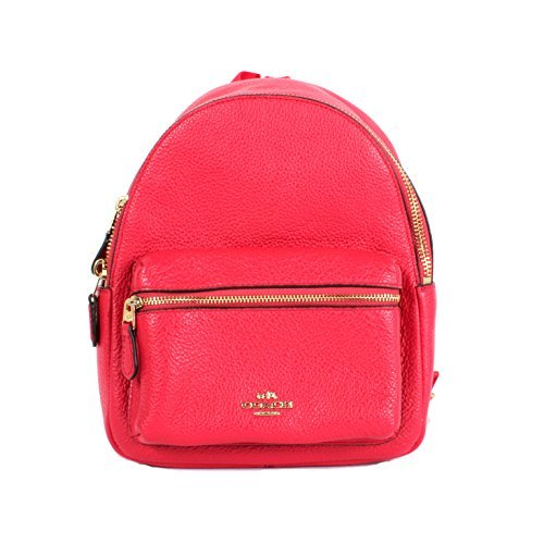 Coach Charlie Pebble Leather Mini Backpack F38263 (Bright ()