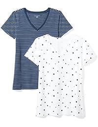 a93782ad14b3 Women s 2-Pack Short-Sleeve V-Neck T-Shirt