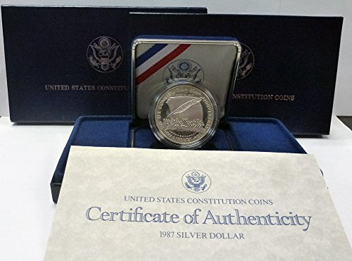 1987 S Proof US Constitution Silver Dollar $1 OGP US Mint