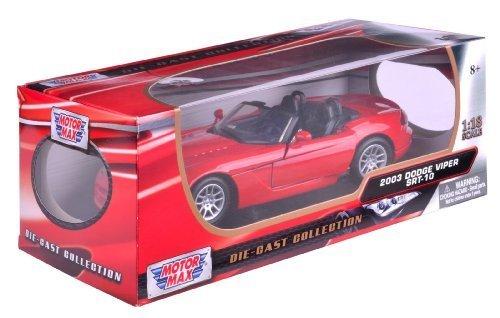 Richmond Toys 1:18 2003 Dodge Viper Srt-10 Die-Cast Collectors Model Car (Red) by Richmond - Richmond Hilltop