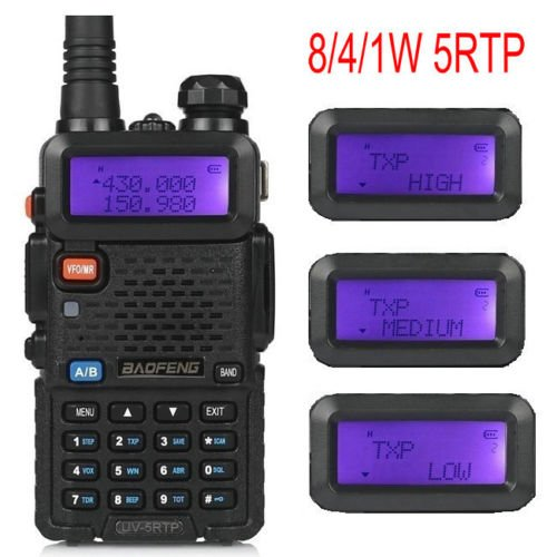 10 Pack Baofeng UV-5RTP Tri-Power 8/4/1W Two-Way Radio Transceiver (UV-5R Upgraded Version with Tri-Power), Dual Band 136-174/400-520MHz True 8W High Power Two-Way Radio + 1 Programming Cable by BAOFENG
