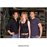 MythBusters (TV Series 2003 - ) 8 inch by 10 inch PHOTOGRAPH Grant Imahara, Kari Byron & Tory Belleci from Hips Up kn
