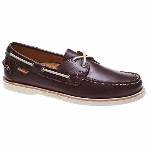 2a71d00e90 Sebago Men s Crest Dockside Dark Brown Leather Boat Shoe 10 M   Amazon.co.uk  Shoes   Bags