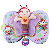 Baby Todder Butterfly Book, Efaster Education Cloth Book Baby Todder Early Development Book (Style A)