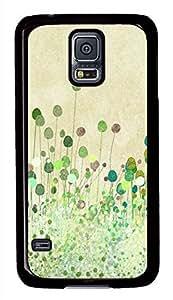 Poppy Buds Vintage Art Black Hard Case Cover Skin For Samsung Galaxy S5 I9600