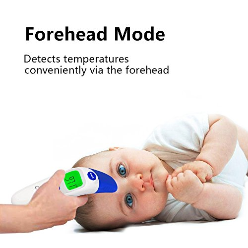 QQcute Digital Infrared Forehead Thermometer More Accurate Medical Fever Body Basal, Blue, 80 Gram by QQCute (Image #2)