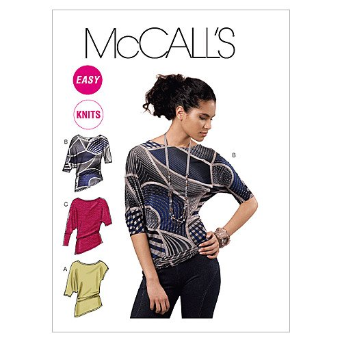 (McCall's Patterns M6400 Misses' Tops, Size Y (XSM-SML-MED))
