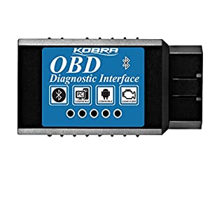KOBRA OBD2 Scanner Bluetooth Scan Tool Adapter, Car Code Reader for Android & Windows Devices, OBD Scanner Wirelessly Feeds Your Cars Data To Your Phone! Check Engine Light Eliminator for All Cars!