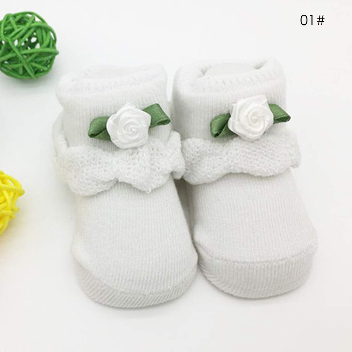 Jinxuny 0-6Months Baby Socks Newborn Infant Kid Comfy Cotton Non-Slip Booties Warm Ankle Booties Soft Sole Unisex (Color : 4)