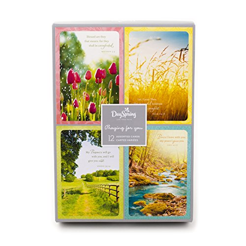DaySpring Assorted Religious Sympathy Greeting Cards (Christian Prayers, 12 Cards and Envelopes) (Cards Boxed Well)
