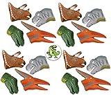 Mixed 24 Dinosaur Dino Finger Puppets Plus a Cool Dinosaur Button