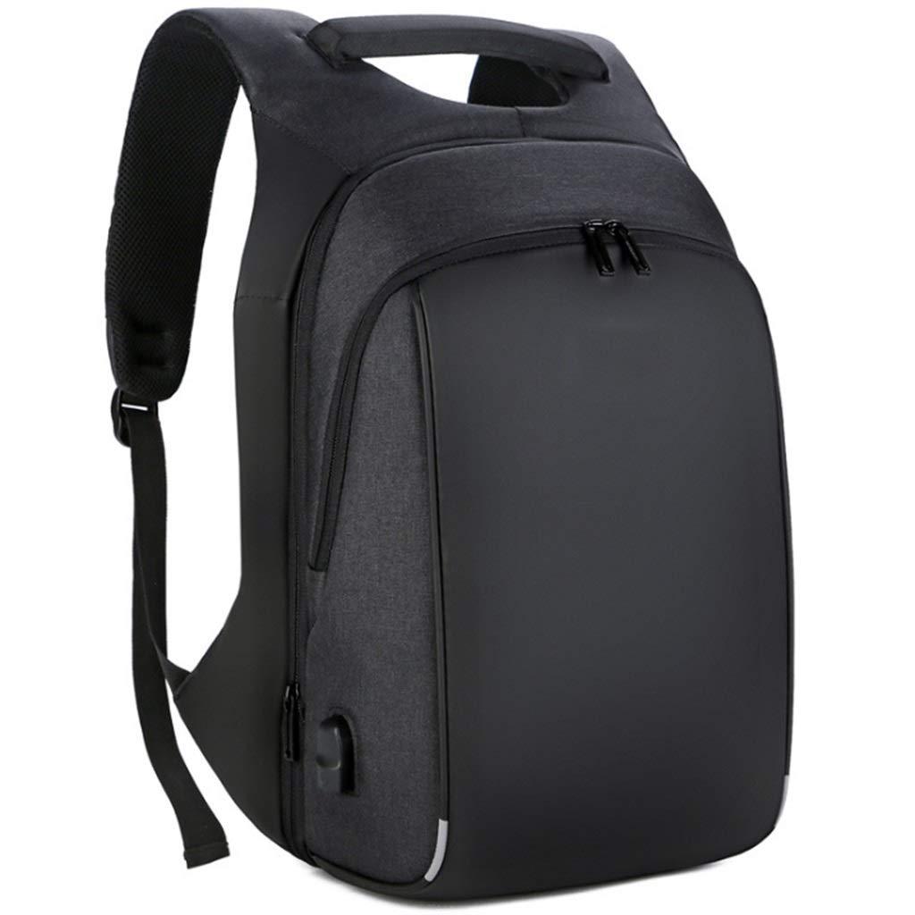 旅行キャンプノートパソコン用バックパック USB充電ポート付き 15.6インチのノートブックや衣類などに対応 サイクリングやアウトドアスポーツやビジネスに最適  ブラック B07NNPNJSZ